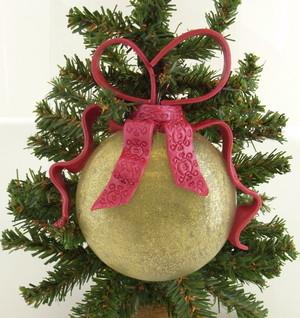 Clay Ribbon Christmas Tree Ornament