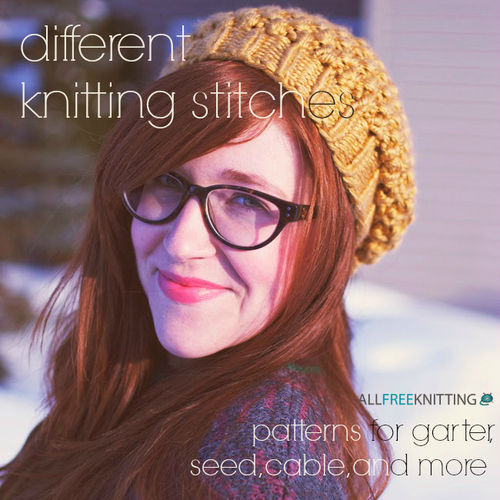 Different Knitting Stitches: 121 Patterns for Garter, Seed, Cable, and More