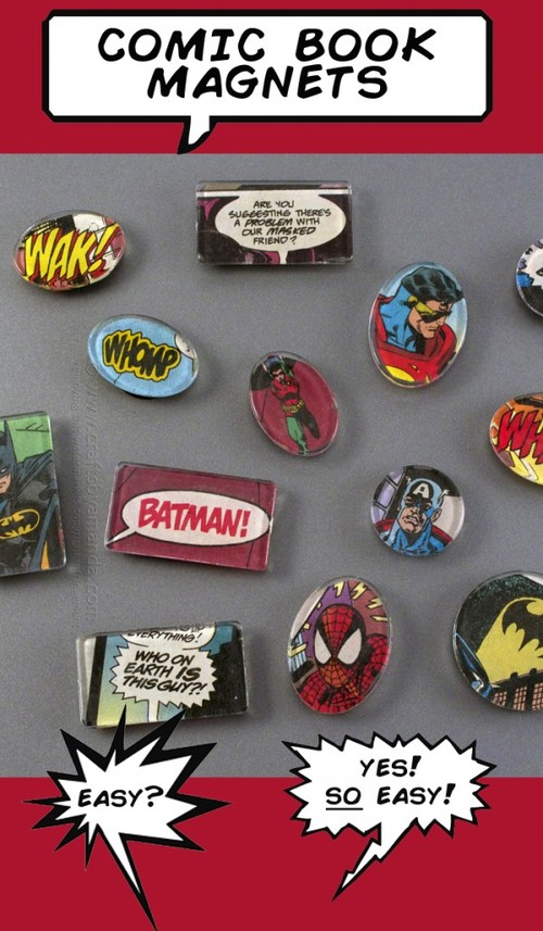 Super Hero Comic Book Magnets