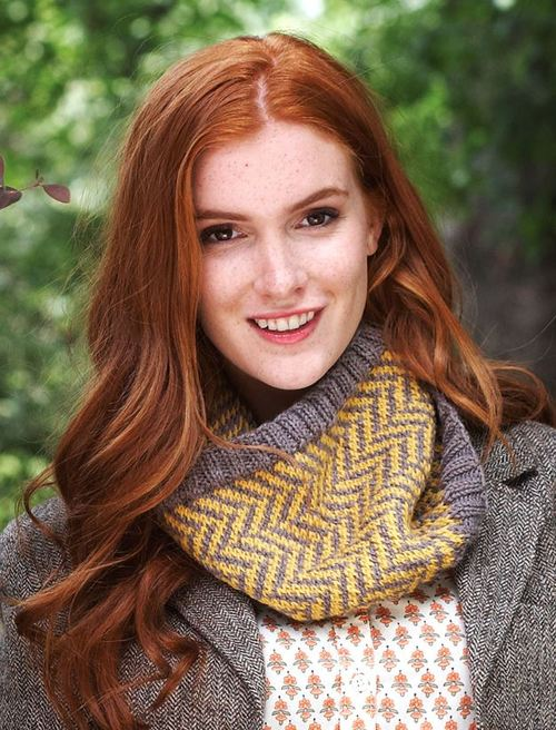Colorful Chevron Cowl