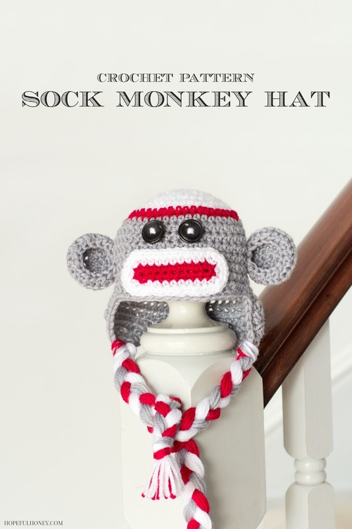 Monkey in the Round Baby Hat