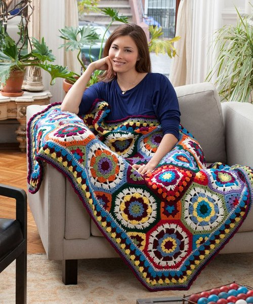 I Love Color Crochet Afghan