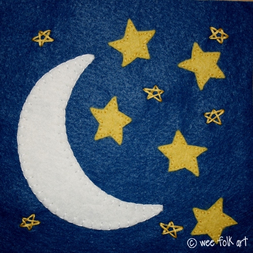 Moon and Stars Applique Templates