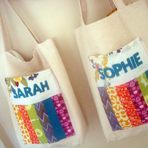 Patchwork Pocket Personalized Book Bag