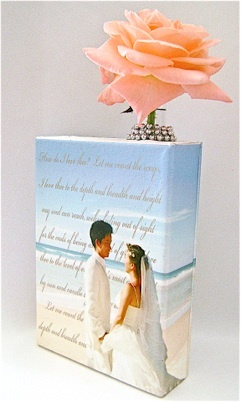 Romantic Canvas Vase Centerpiece