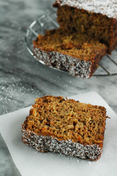 Homemade Frosted Carrot Bread