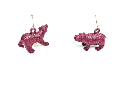 Glittery Plastic Animal Ornaments