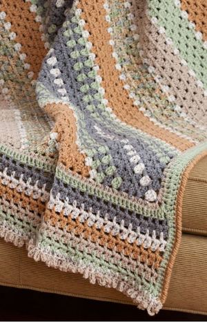Autumn Harvest Striped Throw