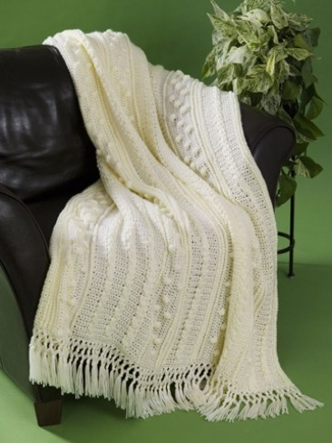 Simple Aran Crochet Afghan