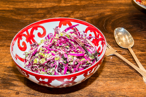 Cabbage Slaw, Pork's Perfect Partner