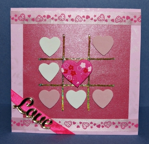 Vivid Valentines Day Tic-Tac-Toe Card