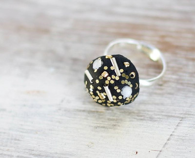Black and Gold Bling Ring