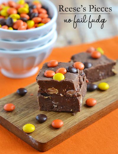 Reese's Pieces No-Fail Fudge