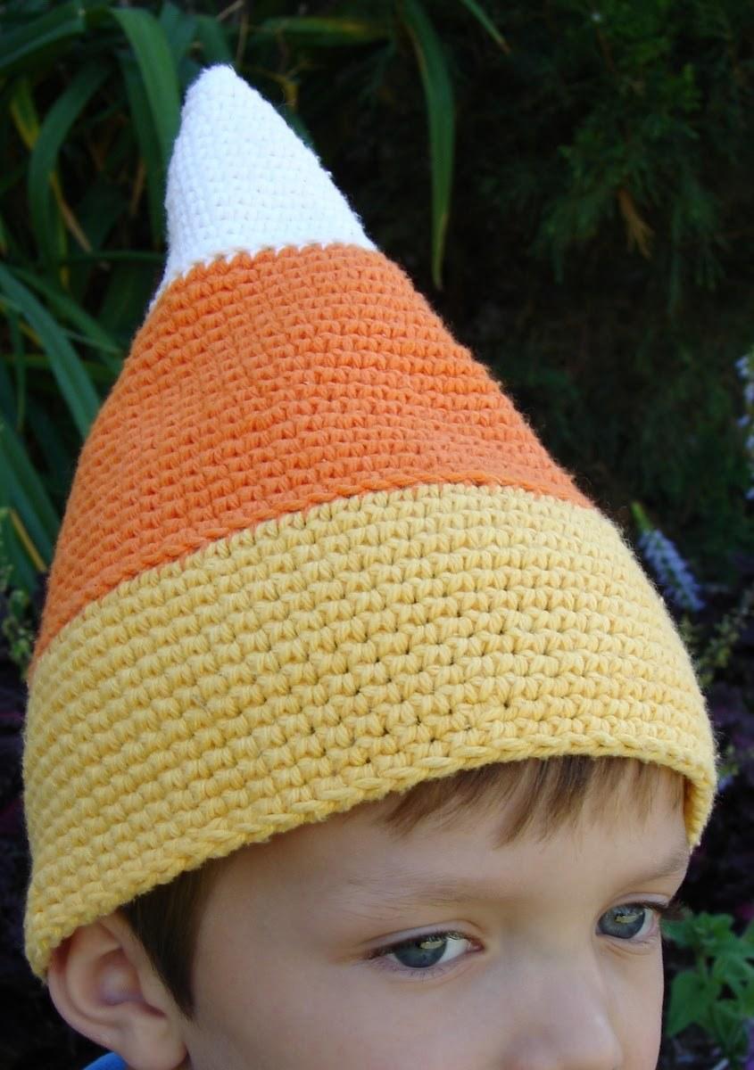 Candy Corn Crochet Hat Allfreecrochet Com