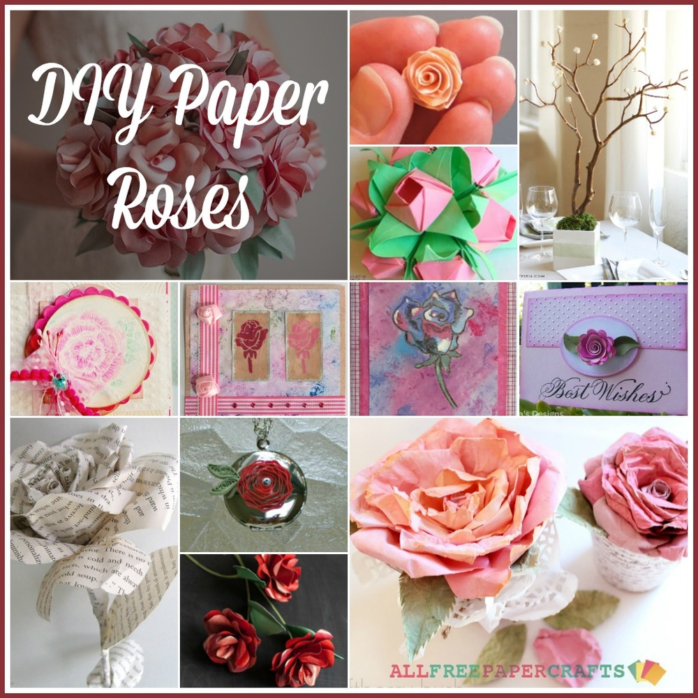 How to make a paper rose 27 diy paper roses allfreepapercrafts dhlflorist Choice Image