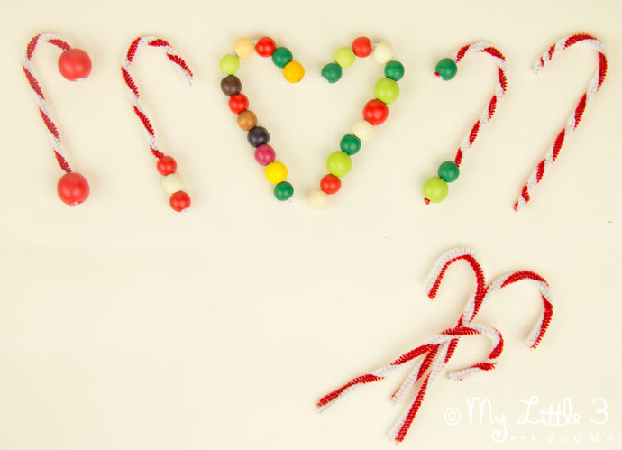 Super easy candy cane ornaments for Easy candy cane crafts