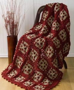 Christmas Snowflakes Crochet Blanket Pattern