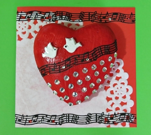 Diamond Bling 3D Heart Card