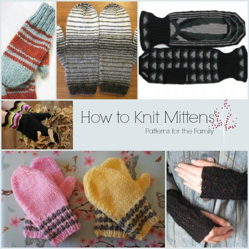 How To Knit Mittens 35 Patterns For The Family Allfreeknitting
