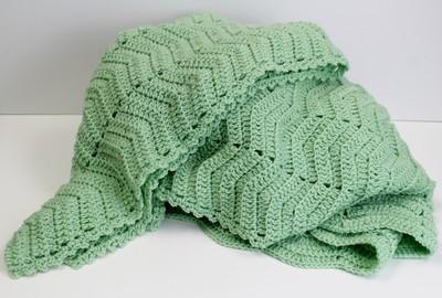Mint Julep Crochet Afghan