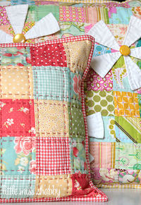 Country Home Patchwork Pillow