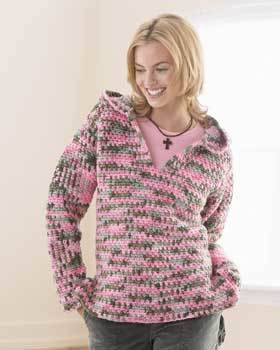 Crochet Hooded Sweatshirt