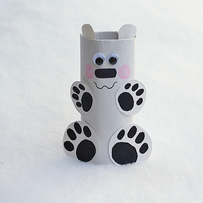 Precious Polar Bear Paper Roll Craft