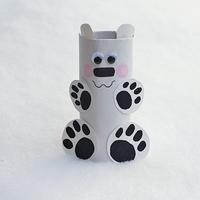 Recycled Cardboard And Yarn Snowflakes Precious Polar Bear Paper Roll