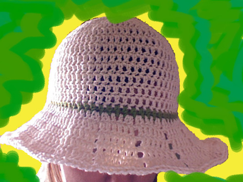 Fast   Easy Crocheted Summer Hat with Brim  9f2c86d0363