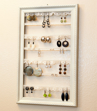 Lacy Vintage Earring Organizer