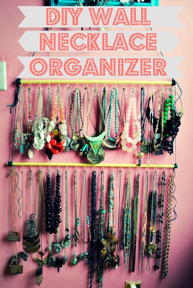 Diy Wall Necklace Organizer Allfreejewelrymaking Com