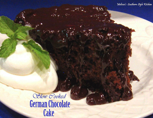 Slow Cooked Fudgy German Chocolate Cake