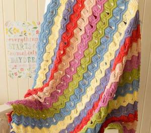 English Cottage Fan Blanket