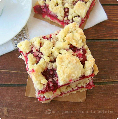 Crumbly Cranberry Shortbread Bars