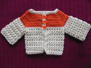 Criss-Cross Baby Sweater
