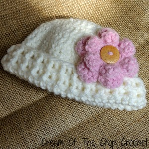 Preemie Flower Hat