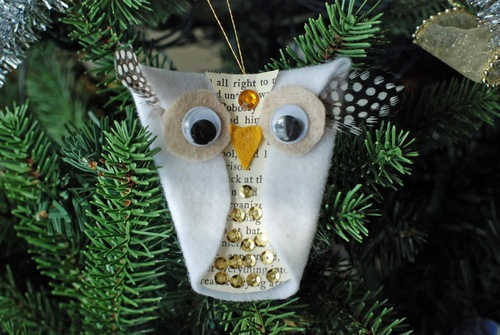 Whoo-liday Felt Owl Ornament