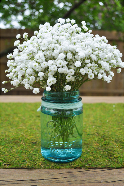 Babys Breath Spring Floral Arrangements