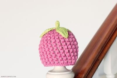 Frambuesa sombrero del bebé