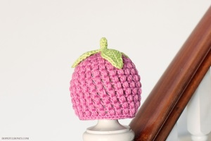 802bd1a72 Raspberry Baby Hat Crochet Pattern | FaveCrafts.com
