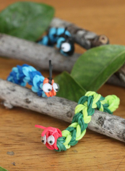 Crazy-Cute Rainbow Loom Caterpillars