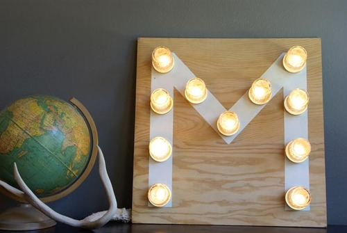Glowing Mason Jar Wedding Sign