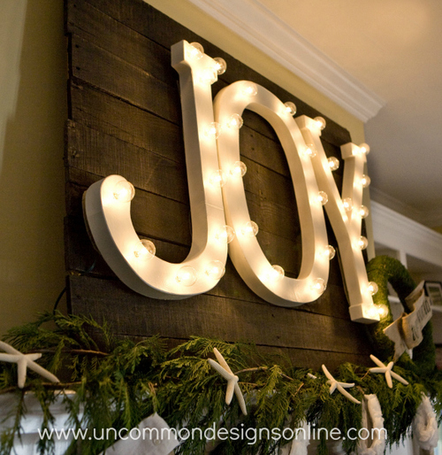 DIY Light Up the Night Letters