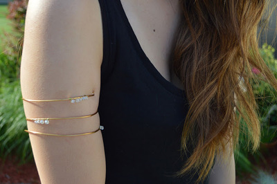 Gorgeous Gilded Arm Cuff