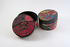 Batman and Superman Decorated Boxes