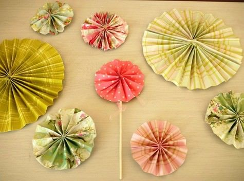 Precious Paper Pinwheel Favors and Decorations