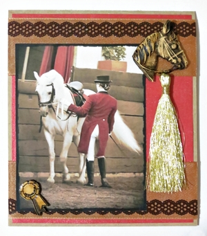 Vintage Horse and Rider Card