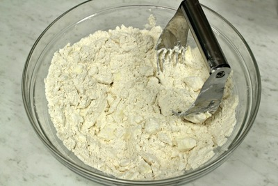 Work the butter into the flour
