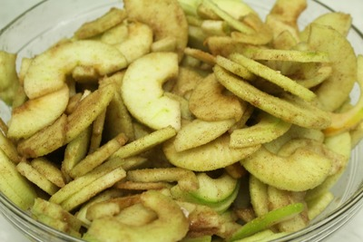 Toss the apples with the sugar mixture