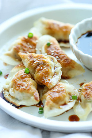 Homemade Chicken Potstickers